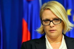 Anja Kopač Mrak na NK po seji vlade