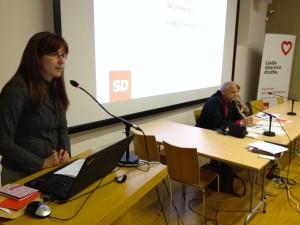Andreja Katič na Konferenci SD