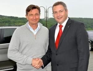 Borut Pahor in Dejan Židan
