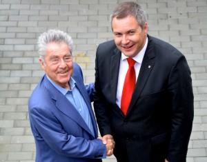 Heinz Fischer in Dejan Židan
