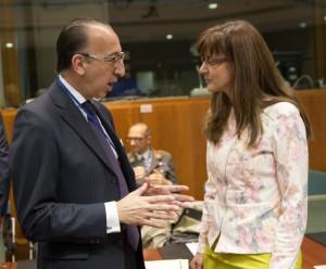 Jorge Domecq in Andreja Katič v Bruslju