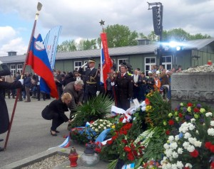 Kopač Mrak na komemoraciji v Mauthausnu