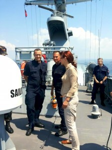 Andreja Katič na ladji Triglav