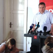 Predsednik SD Židan - izjava o seji vlade o Telekomu
