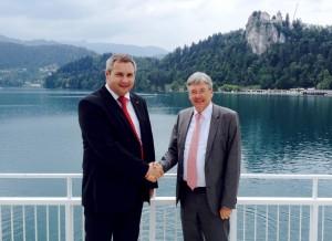 Dejan Židan in Peter Kaiser na Bledu