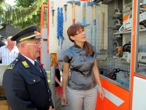 Ministrica za obrambo na obisku PGD Škale