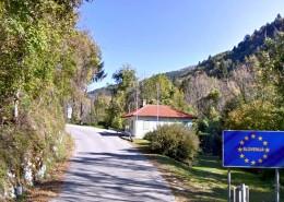 Obmejni objekt na meji Slovenija - Italija