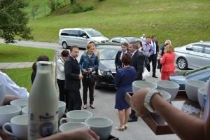 Židan in Jureček v mlekarni Planika