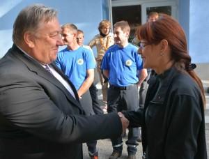 Župan Logatca in obrambna ministrica Katič