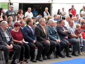 Gostje na odprtju heliporta Bovec