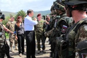 Katič in Pahor z vojaki na Počku