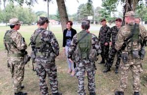 Katičeva z vojaki v Pomurju