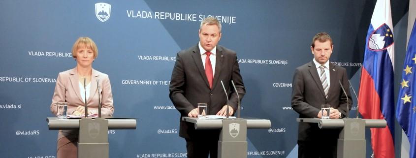 Minister Židan in državna sekretarja Strniša in Marenče