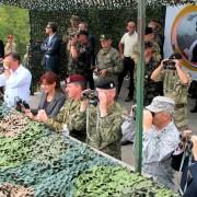 Spremljanje vojaške vaje na Počku