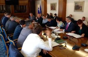 Srečanje vodstva in poslancev z župani SD