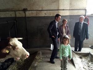 Tanja Strniša na kmetiji v Veržeju