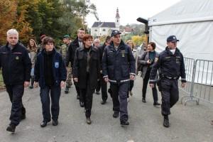 Katičeva s policijo in civilno zaščito na Šentilju