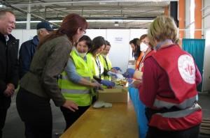 Katičeva s prostovoljci