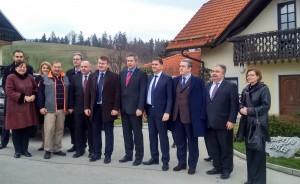 Minister Židan s tujimi gosti ApiSlovenija 2016