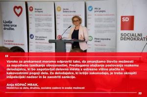 Anja Kopač Mrak na konferenci SD
