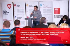 Mario Belović na konferenci SD