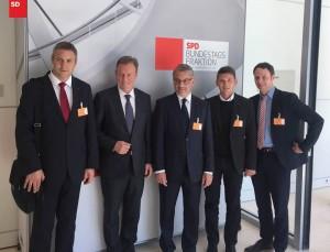 Delegacija SD z vodjo poslancev SPD