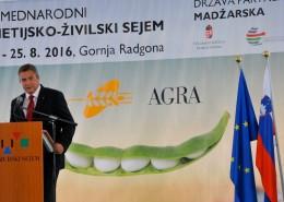 Židan na otvoritvi sejma AGRA