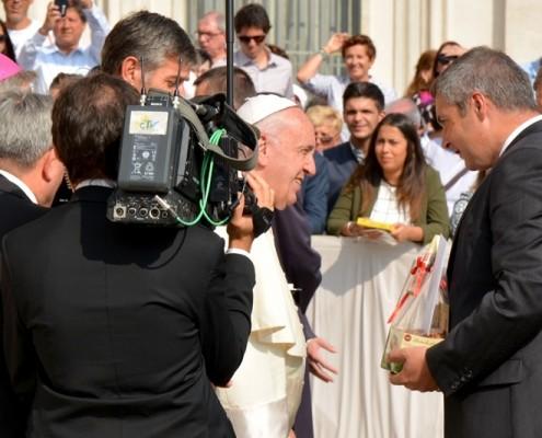 Židan in papež Frančišek v Vatikanu