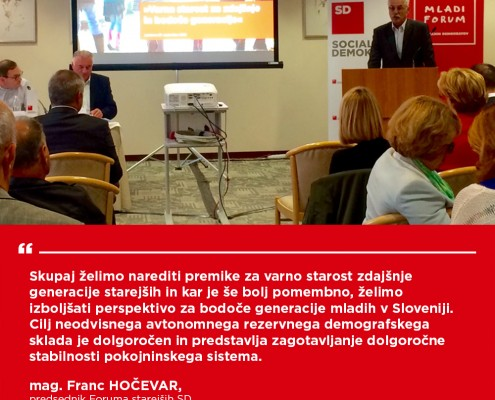 Franc Hočevar - Konferenca Demografski sklad
