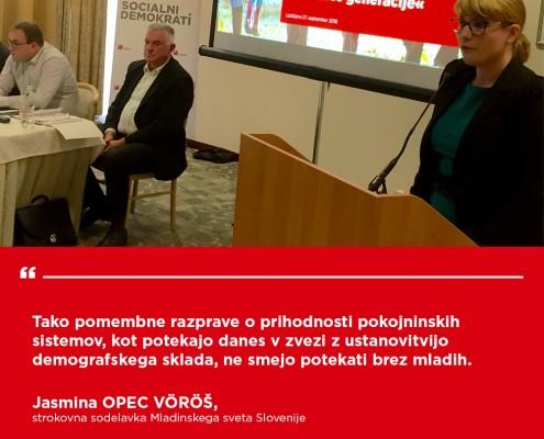 Jasmina Opec Vöröš - Konferenca Demografski sklad