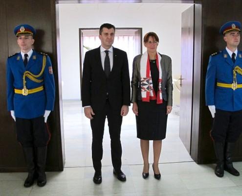 Katič in srbski minister
