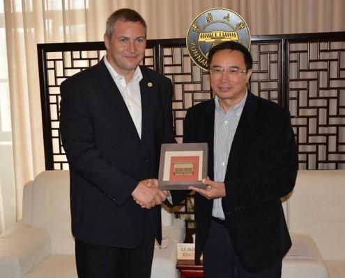 Židan in rektor Univerze Yunnan