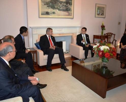 Židan s hongkonškim ministrom za trgovino