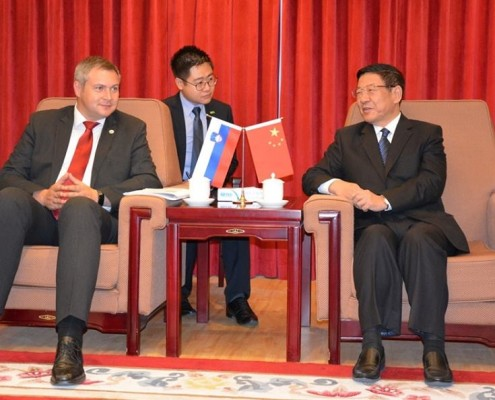 Židan z ministrom Zhangom Jinlongom