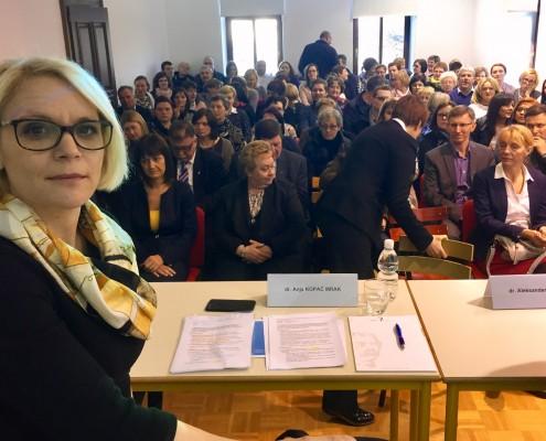 Anja Kopač Mrak na posvetu v Ljutomeru